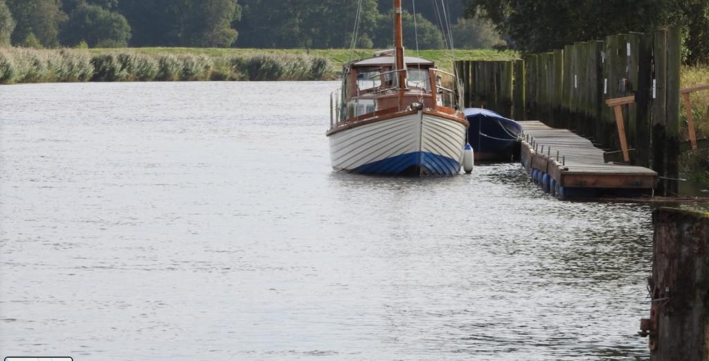 Liegeplätze für Segelboote an der Nordsee Brobergen Oste